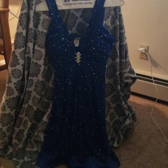 Deb Dresses Sparkly Blue Winter Formalhomecoming Dress Poshmark